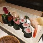 すし 二乃宮 - なぎさ 1050円 シャリが結構小さめで食べやすい。今日の私には食べやすい(食欲やや落ちているので)けど、普段だと足らないかも!?
