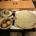 稲庭うどんとめし 金子半之助 - 鶏つくね稲庭うどんと日本橋 海鮮丼 つじ半のぜいたくめし 1430円