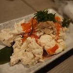 名古屋コーチン専門店 玄蔵 - 【前 菜】鶏ささみの明太子和え