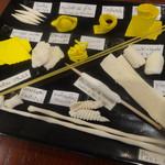 アンティコ ジェノベーゼ - 自家製生パスタのサンプル。常時12,13種類あります