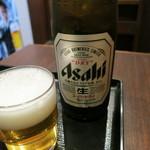 蕎麦樹 - 瓶ビール(アサヒスーパードライ)