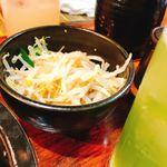 ほるもんスタジアム - お通しのモヤシナムル   ごま油味