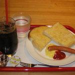 キッチンガーデン - 全粒粉トーストモーニング(アイスコーヒー) 350円