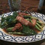8983636 - 空心菜と豚肉炒め