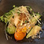 よし春 - ●サラダ夏野菜たっぷりで夏野菜の独特な歯応えが私好みので美味しい(^_^)