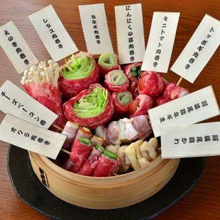 女性のリピーター様多数!ヘルシーで美味しい野菜牛肉巻&串焼