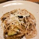89836251 - ズッキーニと水茄子のカチョエペペ スパゲッティ