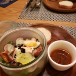 89836255 - スープ、サラダ&パン付き