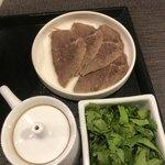馬子禄 牛肉面 - トッピング 牛肉&パクチー 黒酢