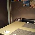 居酒屋鮮道 こんび - 今回の個室のお席