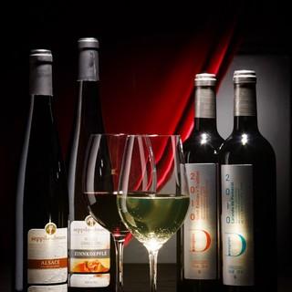 こだわりの自社輸入のワイン、クラフトビール