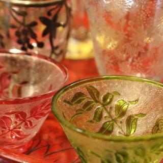 日本酒×アンティークグラス。大人の時間を愉しんで