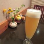 笊そば 蕎すけ - 生ビールは「白穂乃果」