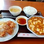 金龍 - 麻婆豆腐定食 800円(税込)。