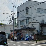 金龍 - お店を北側から見る。