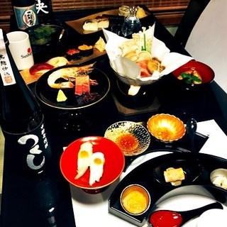 北海道直送の新鮮な食材をふんだんに使った「贅沢コース」