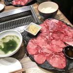89848023 - 名物ネギ塩牛タンランチ(スープ、御飯)1000円