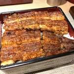 鰻家 - 料理写真:ランチメニュー(うな重は一匹です 大きさは異なります)●うな重(特上)4860円税込・うざく・うまき・八幡巻・きも吸い・香の物