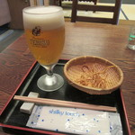 Sobadokoro Wamura - 生ビール・お通し