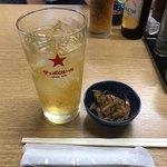 三徳 - 料理写真:お通し、下町ハイボール