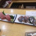 魚三酒場 - 鯵、まぐろ