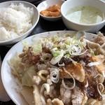 三珍 富士力食堂 - ♪ミックス肉揚げ定食¥1116