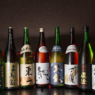 全国各地の地酒を厳選。東北の銘酒も豊富にご用意しております。