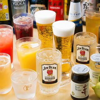 飲み放題のラインナップは52種65品!