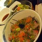 天麩羅urega - 海鮮丼と天麩羅セット(1,400円)