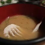 居酒屋 肴とり - しめの味噌汁