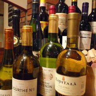 オーナー厳選のワインも充実しております!