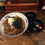 牛の力 - 牛丼(白)& お吸い物