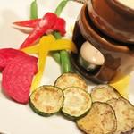 カパンナ - 5種の季節野菜を楽しむ!まろやかバーニャカウダ