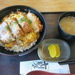 たからや - 三元豚の厚切りロースカツ丼(¥1.080)