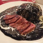 まんぷく食堂 - ステーキ黒カレー