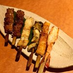 炉端と肉割烹 笹揶 - 六種盛り