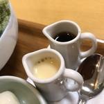 ささやなぎ - 抹茶シロップではなく紅茶シロップが…