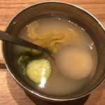 焼肉ふるさと - これは美味かった、韓国冷麺のスープ?