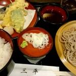 89871388 - ランチ『天ぷら・ご飯・冷たい蕎麦』¥1000-