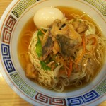 ほっこり中華そば もつけ - 限定「冷製アジ南ばん麺」+味玉