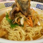 ほっこり中華そば もつけ - 限定「冷製アジ南ばん麺」