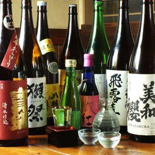 広島の酒蔵から選ばれた日本酒が飲み放題!