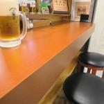 グリドルキッチンMORISHIN - カウンター席にイスが置かれるようになっていました