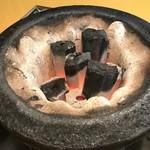 炭焼じんぎすかん マルコ - 七輪で焼きます