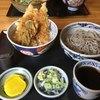 そば処 まる山 - 料理写真:そばと穴子天丼セット