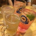 白虎隊 - 乾杯は白虎ハイボールで。梅酒だとさ。