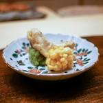 木山 - ☆グシと玉蜀黍の天ぷら