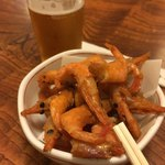 レストラン天王 - 料理写真:小エビのから揚げ(2018.07.現在)ビールもどきと供に。