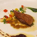 テストキッチンエイチ - シャラン鴨のコンフィ 夏野菜添え