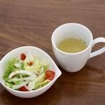 リビング カフェ ヨッコ - サラダとスープ